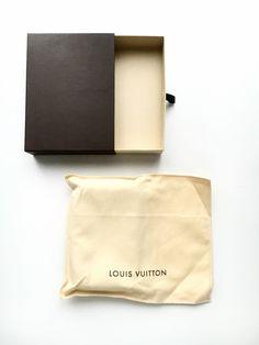 louis vuitton dustbag box wallet unboxing