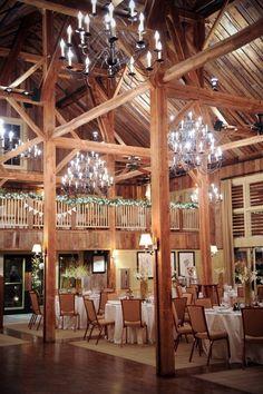 Elegant barn reception. #wedding #zappos