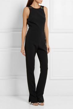 Black crepe Concealed hook and zip fastening at side 52% acetate, 45% viscose, 3% elastane; lining: 57% viscose, 43% polyester Dry clean Made in France