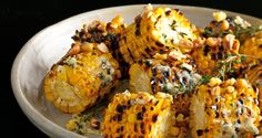 Grilled Corn with Herb Butter and Corn Nuts - Bon Appétit