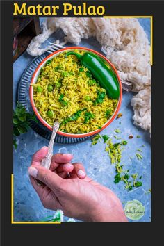 Green Peas Pulao is an aromatic Indian rice with peas dish. This spicy rice