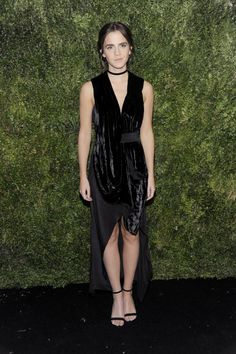 Emma Watson in a little black dress at the 2016 Museum Of Modern Art Film Benefit - A Tribute To Tom Hanks in New York City on November 15, 2016.   GETTY