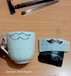 Cansu'nun Moda Gezegeni.: Tuzlu kahve fincanı nasıl süslenir ?