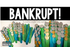 BANKRUPT! Kids LOVE playing this fun & unpredictable coin counting game during small group!