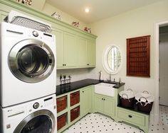 Coastal Cottage, Traditional Laundry Room, Jacksonville