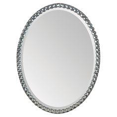 Crystal Oval Mirror, Clear $305.00