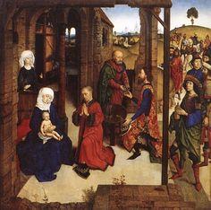 DIERIC BOUTS il Giovane - Adorazione dei Magi - 1470 circa - Alte Pinakothek, Monaco
