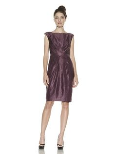 Adrianna Papell Embroidered Back Dress w/beading
