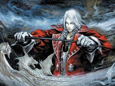The second Castlevania installment for the Game Boy Advance, Castlevania: Harmony of Dissonance tells the tale of whip-bearing Juste Belmont, grandson of Simon Belmont. Castlevania Games, Castlevania Netflix, Final Fantasy, Fantasy Art, Video Game Posters, Video Game Art, Video Games, Alucard, Game Boy