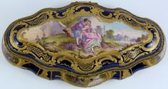 Antique Sevres French hand painted porcelain hinged box