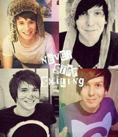 Aww I love this. They are such cuties^-^ love me some Dan and Phil!