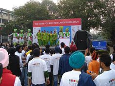 Terry Fox Run in #India, hosted by #UFV Chandigarh