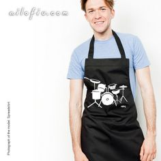Drums apron. By ailofiu tees