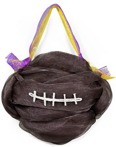 Party Ideas by Mardi Gras Outlet: DIY: Football Door Decoration with Deco Mesh