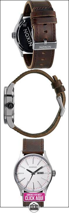 Nixon A1051113-00 - Reloj analógico de cuarzo para hombre con correa de piel, color marrón  ✿ Relojes para hombre - (Gama media/alta) ✿ ▬► Ver oferta: http://comprar.io/goto/B00634V4QG