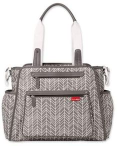 SKIP*HOP? Grand Central Diaper Bag in Grey Feather #busy#bag#ultimate