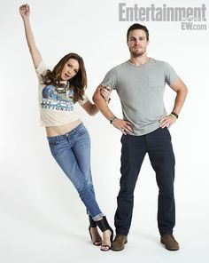 katherine evelyn anita cassidy (dinah laurel lance) / stephen amell (oliver queen / green arrow)