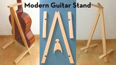 I wanted a guitar stand that was light and could be folded away, but still offered neck support since I have a dog. If you have a dog, toddler, or are just kind of. Diy Wood Projects, Woodworking Projects, Diy Guitar Stand, Sheet Music Stand, Learn Acoustic Guitar, Guitar Rack, Plywood Sheets, Cigar Box Guitar, Wood Pallets