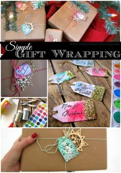 DIY Christmas Gift Tags Tutorial - Crafts and Gift Ideas