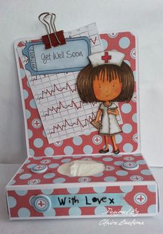 Get Well Tissue Card Doodle Inspiration, Play 1, Get Well Soon, Get Well Cards, Pretty Cards, Punch Art, Cardmaking, Doodles, Paper Crafts