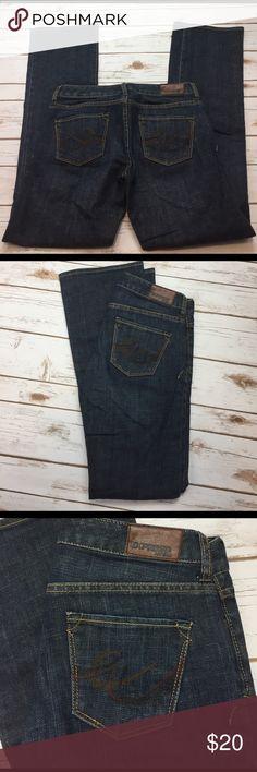 "⚫️size 0 Express Stella Bootleg dark rinse jeans NWOT Ezpress Stella bootleg dark rinse jeans.  Waist 31"", inseam 31.5"". Express Jeans Boot Cut"