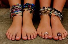 Feet #bracelets ! The must have accessory for the #beach