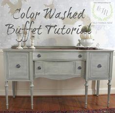 Color Washed Buffet Many fantastic tutorials