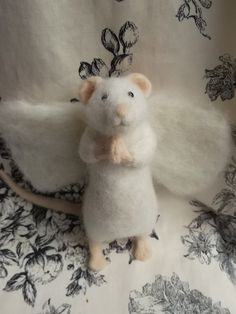 RESERVED for Frances Needle Felted Praying Mouse by MrsPlopsShoppe