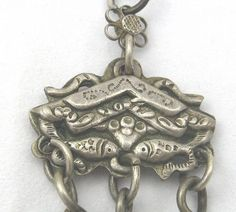 1800s Silver Grooming Chatalaine with Chinese Motif (item #1427876) Victorian Jewelry, Chinese, Antiques, Silver, Accessories, Antiquities, Money, Antique, Chinese Language