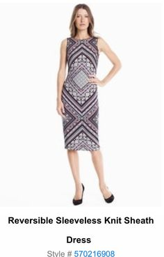 Reversible sheath dress WHBM