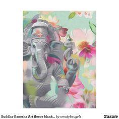 Buddha Ganesha Art fleece blanket | small