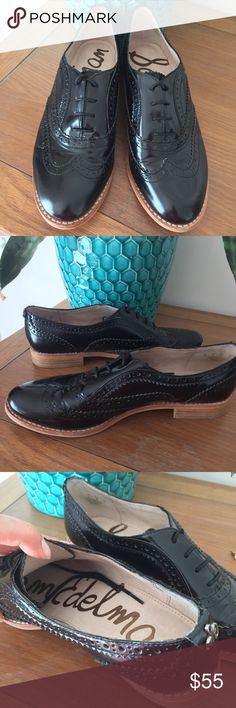 Sam Edelman Jerome Oxfords Cute and classy oxfords by Sam Edelman. Shiny black finish. Seriously amazing! In great condition, worn sparingly. Size 8. Sam Edelman Shoes Flats & Loafers
