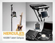 Vokaller, müzisyenler, DJ'ler için özel Hercules HA300 Tablet Sehpası.