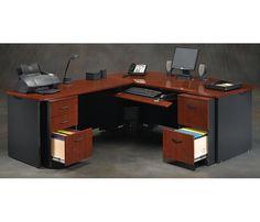 L shaped Desk Office Furniture, Office Decor, Home Office, L Shaped Desk, Corner Desk, Home Decor, Pretty, Corner Table, Decoration Home