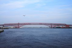 3º maior vão treliçado do mundo File:Minato Ohashi Osaka JPN 001.jpg http://en.wikipedia.org/wiki/List_of_longest_cantilever_bridge_spans