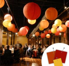 Sunbaked colors: red, orange, and yellow wedding #wedding #coloradowedding #denverwedding #weddingdecor #weddingcolors