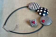 Necklace by polymer clay   Saruva