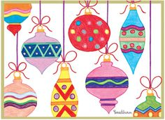MD Anderson Cancer Center Holiday Card - Colorful Ornaments