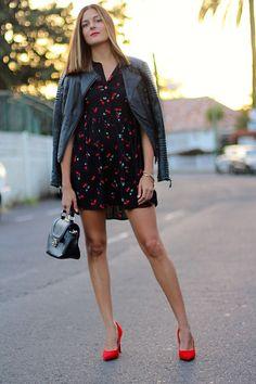 Vestido cerezas. Como combinar tacones rojos. http://www.marilynsclosetblog.com/2017/10/cherry-heels.html #ootd #mystyle #fashion #moda #inspiraicion Get this look: http://lb.nu/look/8868005  More looks by Marianela Yanes: http://lb.nu/marilynscloset  #chic #preppy #sexy