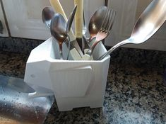 printer design printer projects printer diy Printing Printing Image of Cool Things to Print: Jumbo Elephant Cutlery Drainer you c. Impression 3d, 3d Printing Service, Printing Companies, Baguette, 3 D, Diy 3d, Modeling Techniques, 3d Printer Projects, 3d Printing Technology