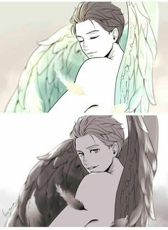 Yuri x Victor angels (manga yuri) Anime Guys, Manga Anime, Anime Art, Yuri On Ice, Katsuki Yuri, ユーリ!!! On Ice, Levi X Eren, Angels And Demons, Haikyuu