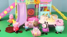 Peppa Pig Park Playground Candy Cat Birthday Party Play Doh Muddy Puddle...