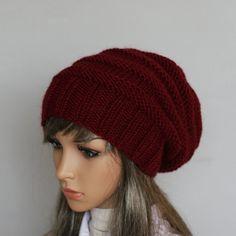 Autumn accessoires-Slouchy Beanie femmes chapeau par WoolyThinker