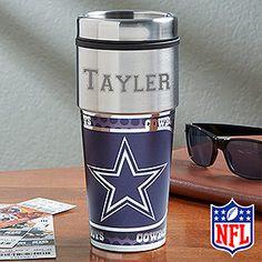 NFL Dallas Cowboys Personalized Travel Mug Great Christmas idea!!
