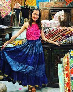 BOHO FASHIONISTA STYLE: Vintage Tiered Sari Skirts