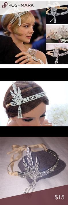 Daisy Buchanan headband 1920s headband work by Daisy Buchanan in the film The Great Gatsby. Only worn once did Halloween. It looks really authentic and is sturdy! Perfect for that 20s costume party! Accessories Hair Accessories