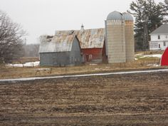 Hwy 35 Chisago County Minnesota, I think the barn in the back has caved in now. This was taken in March of 2011