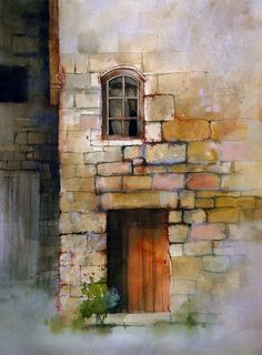 texture techniques by John Lovett, using a combination of watercolor, ink, pastel and gouache to build up convincing, visual texture in a watercolor painting. Watercolor Tips, Watercolour Tutorials, Watercolor Techniques, Watercolor Landscape, Art Techniques, Watercolor Lesson, Watercolor Texture, Texture Painting Techniques, Pastel Watercolor