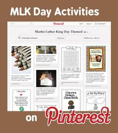 Pinterest Pinboard of the Week: Martin Luther King Day Themed Activities for Therapy - Pinned by @PediaStaff – Please Visit http://ht.ly/63sNt for all our pediatric therapy pins