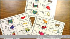 Manipulating Sounds literacy center {beginning, middle, end}